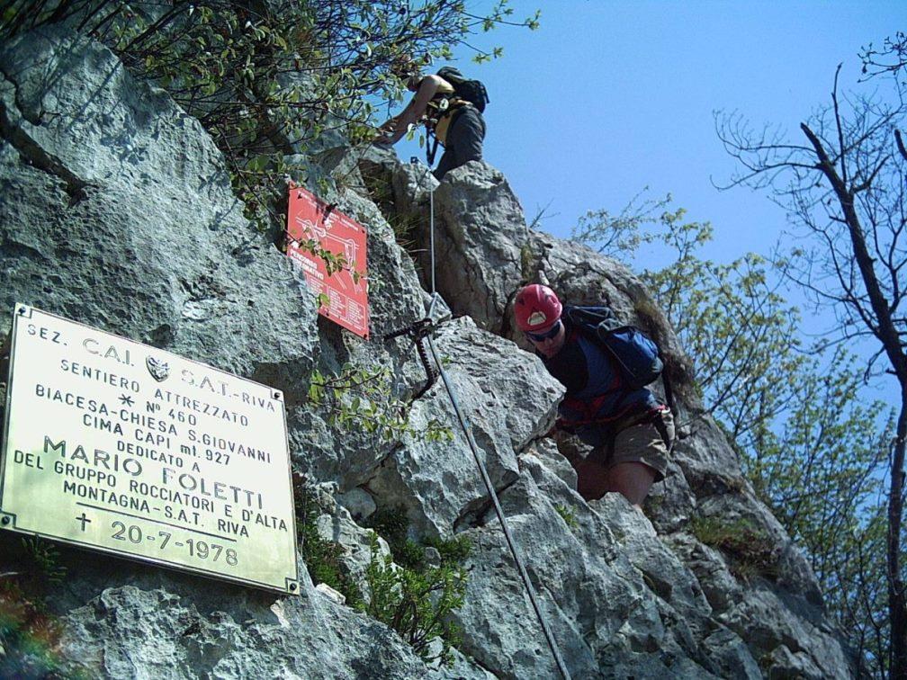 Klettersteig Comer See : Gardasee klettersteig at reisen